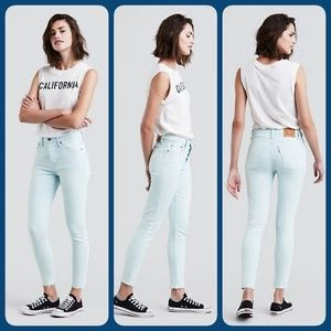 Levi's Wedgie Fit Stone wash Iced Blue Jeans